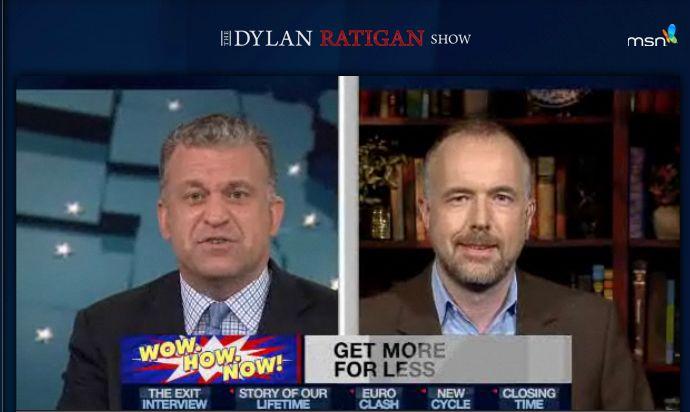 Arne Jungjohann auf MSNBC in der Dylan Ratigan Show