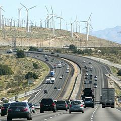 Windfarm an der Interstate 10 in Kalifornien